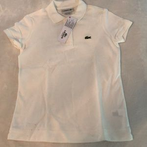 NWT Girls Lacoste Polo size 12